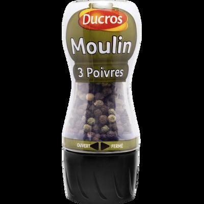 Moulin 3 poivres, DUCROS, 34g