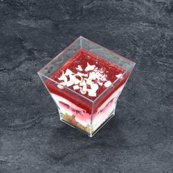 Verre tiramisu framboise fraise, 1 pièce, 85g