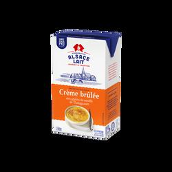 Crème brûlée UHT ALSACE LAIT, brique de 1l