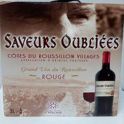 COTES/ROUSS, AOP, saveurs oubliées rouge BIB 3 L.