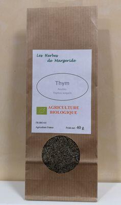 Les herbes de Margeride Thym feuille BIO 40g