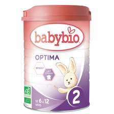 Optima 2 BABYBIO, dès 5 mois, 900g