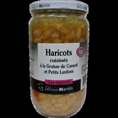 Haricots cuisinés graisse canard & petits lardons ALAIN MARTIN, 800g