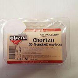 CHORIZO 30 TRANCHES ENVIRON OBERTI BARQUETTE 150G