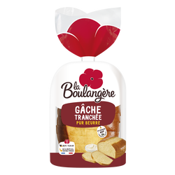 Gâche pur beurre tranchée LA BOULANGERE, 400g