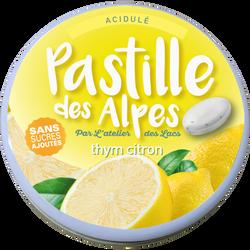 PASTILLES DES ALPES thym citon sans sucre avec édulcorants, boite métallique de 35g