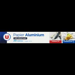 Aluminium U, rouleau de 20m x 0,29m