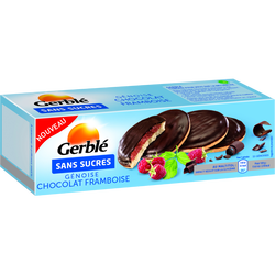 Génoise chocolat framboise sans sucres GERBLE, paquet de 140g