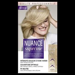Coloration ton sur ton blond clair beige 9-4 NUANCE SUPRÊME