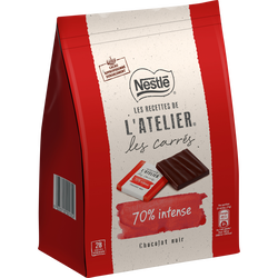 Chocolat mini carré noir intense 70% NESTLE Grand chocolat, 210g