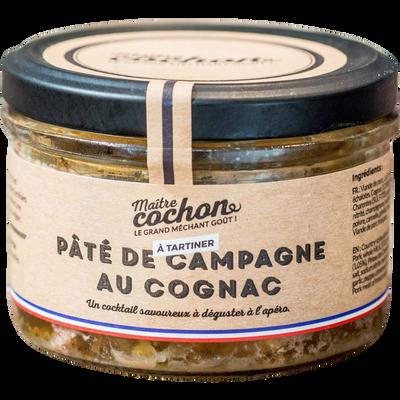 Pâté de campagne au cognac p'tites marmites MAITRE COCHON, verrine de180g