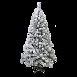 Sapin de noël floqué blanc en pvc 180cm