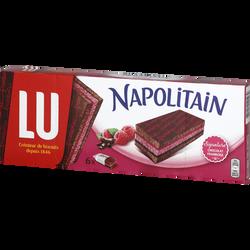 Napolitain chocolat framboise LU, paquet de 174g