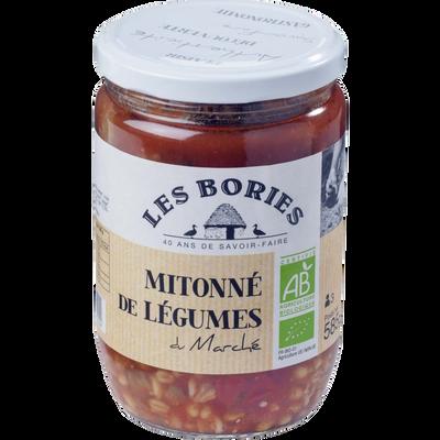 Mitonne de légumes du marché bio LES BORIES, 585g