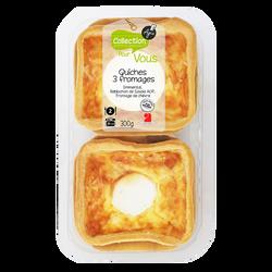Quiche aux 3 fromages AGIS, 2x150g