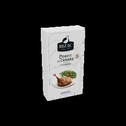 Cuisse de canard confite, BIZAC, France, 2 pièces, Barquette 400g