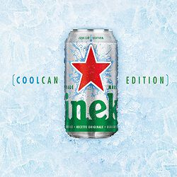 Bière cool can édition, HEINEKEN, 5°, pack de 10x33cl