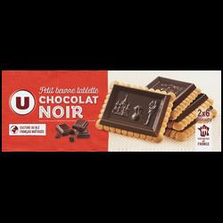 Petit beurre tablette chocolat noir U, paquet de 150g