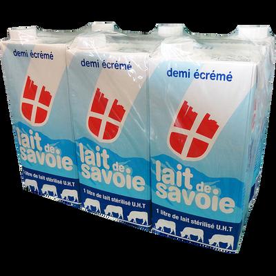 Lait de Savoie UHT demi écrémé METRAL, 6 briques de 1l