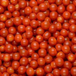 Tomate cerise en grappe, segment Les cerises rondes grappes, BIO, catégorie 2, Italie, barquette, 250g