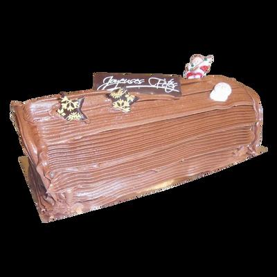 Bûche chocolat, 6 parts, 500g