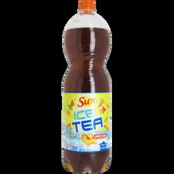 Boisson au thé glacé saveur pêche, bouteille de 2l
