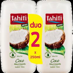 Douche origine coco nourrissante TAHITI, flacon 2x250ml