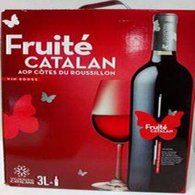 Fruité Catalan AOP côtes du roussillon vin rouge BIB 3 L