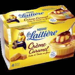 Dessert lacté crème caramel LA LAITIERE, 4x100g