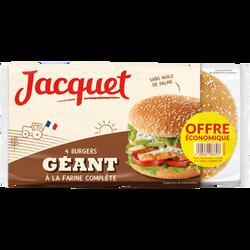 Hamburger géant complet JACQUET x4 330g offre Economique