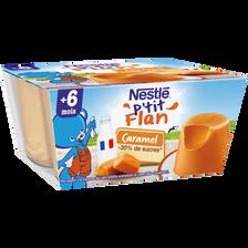 P'tit flan caramel dès 6 mois, NESTLE, 4x100g