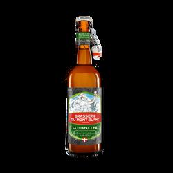 Bière la cristale IPA MONT BLANC 4.7°, bouteille de 75cl