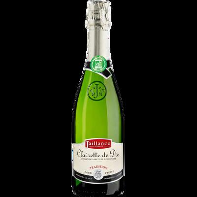 Clairette de Die AOP bio Tradition JAILLANCE, bouteille de 75cl