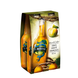 Cider original LA MORDUE, 4 bouteilles de 27,5cl