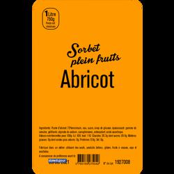 Sorbet à l'abricot LA TURBINE A SAVEURS, 1 litre
