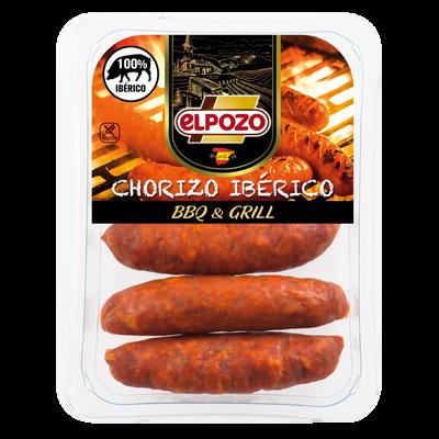 Chorizo iberique à cuire au barbecue EL POZO, 300g
