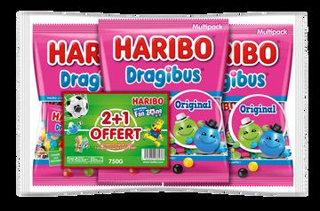 Haribo Dragibus Haribo Sachet Multipack 250g