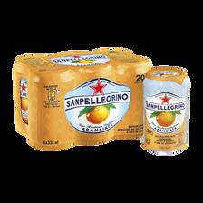 Boisson gazeuse aromat.jus orange ABC SAN PELLEGRINO, ARANCIATA, 6X33cl