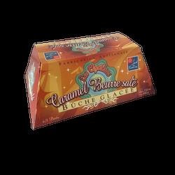 Bûche glacé caramel beurre salé LES CIGALINES, 750ml