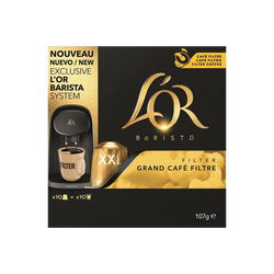 Grand café filtre L'OR, paquet de 107g