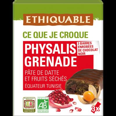Barre datte physalis grenade equateur/tunisie bio ETHIQUABLE, 3x35g