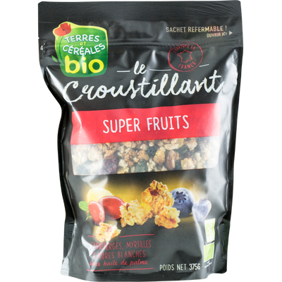 Le croustillant super fruits TERRES ET CEREALES, 375g
