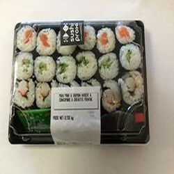 Sushi Maxi Maki 6 saumon avocat, 6 concombre, 6 crevette menthe