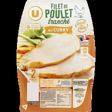 Filet de poulet au curry U, 2 tranches 150g