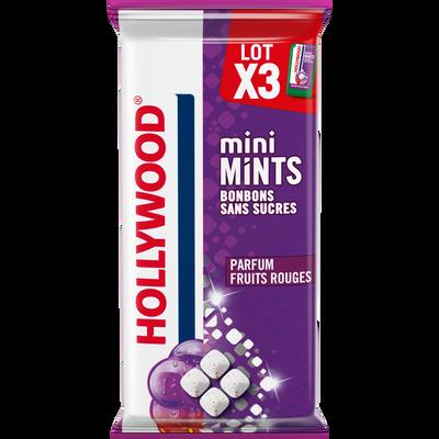 Mini minth fruit rouge sans sucre HOLLYWOOD, 3X12,5g