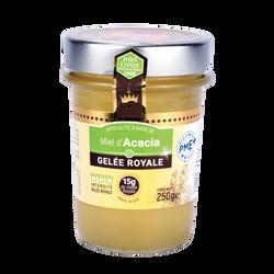 Miel d'acacia et gelée royale MIEL CRETET, 250g