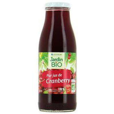JUS DE FRUITS CRANBERRY/RAISIN/POMME BIO JARDIN BIO BOCAL 1L