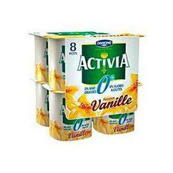 Yaourts, 0% saveur vanille, ACTIVIA, 8x125g