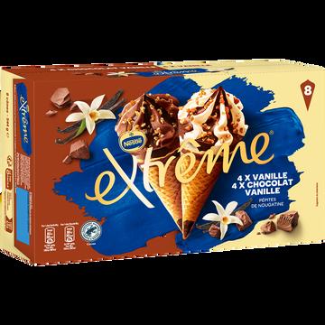Nestlé Extrême Panaché Vanille/vanille-chocolat, X8 544g