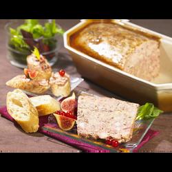 Terrine de foie gras de canard 20% aux girolles 2%